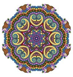 Mandala circle decorative spiritual indian symbol vector