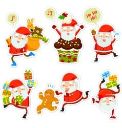 Funny santa cartoons vector
