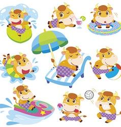 Child cartoon animals vector