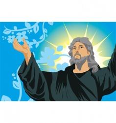 Jesus show hand vector