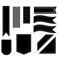 Black ribbons vector