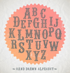 Hand drawn fonts for headlines vector