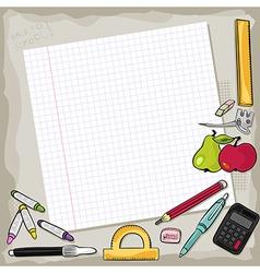 School stationery vector