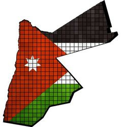 Jordan map with flag inside vector