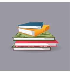 Pile of books vector
