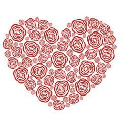 Rose heart vector