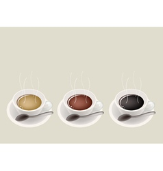Coffee cups background vector