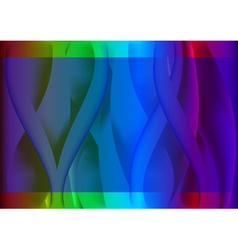 Abstract colorful wavy background vector