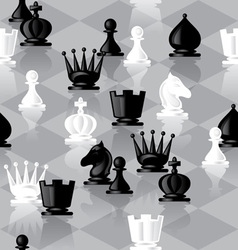 Chess seamless vector