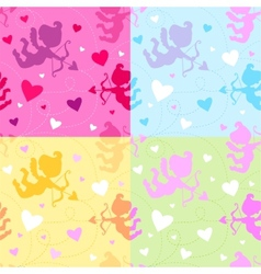Seamless pattern with cupids vector
