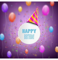 Happy birthday composition with blur background vector