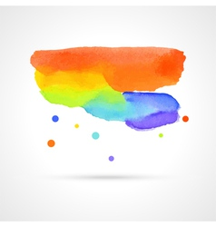 Multicolor watercolor cloud vector