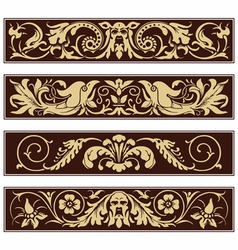 Victorian ornamental vintage decoration border vector