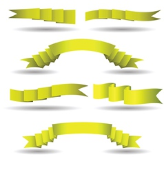 Set of yellow banners vector