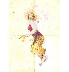 Cheerful lady vector