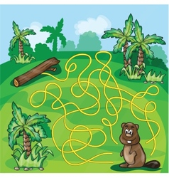 Labyrinth maze for kids vector