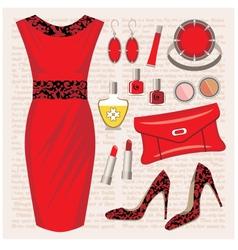 Fashion set vector
