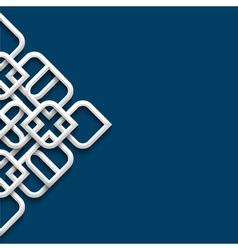 3d white ornament in arabic style vector