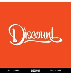 Discount lettering vector