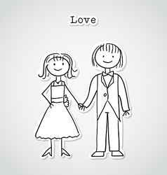 Cute cartoon couple vector