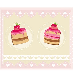 Lovely pattern with cake design vector