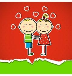 Children in love vector