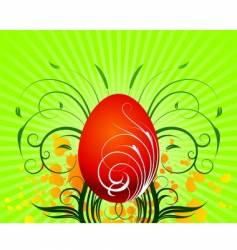 Easter illustration with painted egg vector