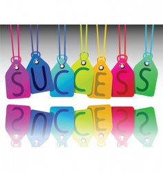 Success tags vector