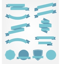 Set of empty retro ribbons vector