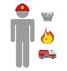 Firefighter job vector