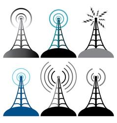 Radio tower vector