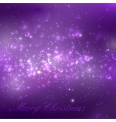 Merry christmas shiny purple holiday background vector