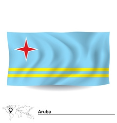 Flag of aruba vector