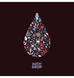 Water drop vector