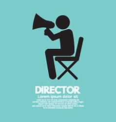 Film director symbol graphic vector