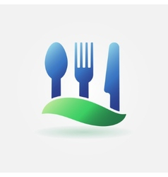 Food or cafe bright icon vector