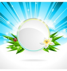 Background design on a spring vector