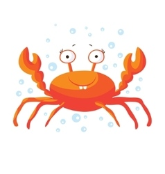Cute crab isolated t-shirt design for children vector
