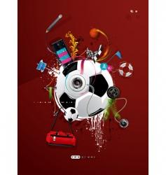 Soccer ball graffiti vector
