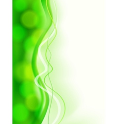 Abstract green soft focus card vector