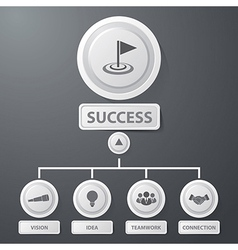 Success business infographics vector