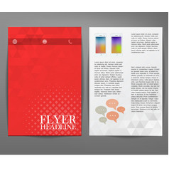 Cover report triangle geometry abstract red vector