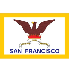 San francisco city flag vector