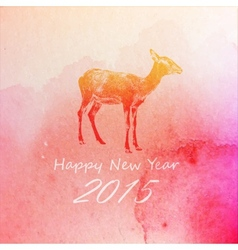 Holiday of a goat on the watercolor texture vector