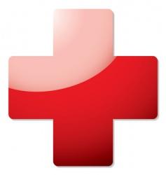 Red cross symbol vector