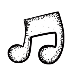 Music note doodle vector