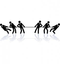 Business teams contest vector