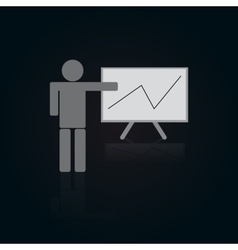 Icon of person with table and graph vector