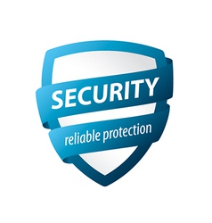 Logo blue shield for protection vector