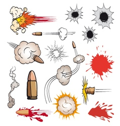 Comic book bullets set vector